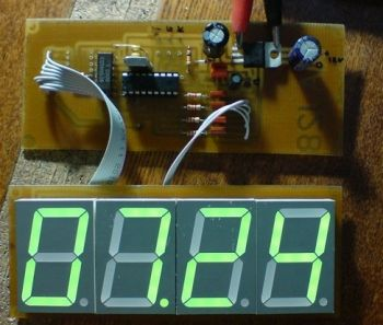 Цифровые часы своими руками схема